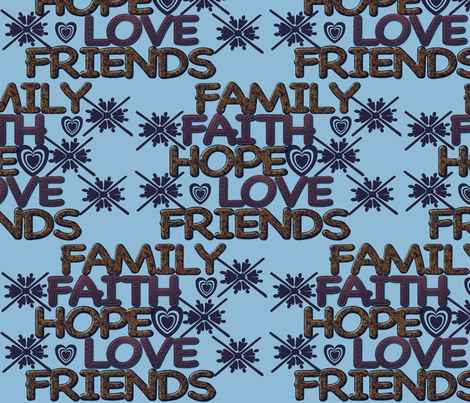 Words to live by fabric by dogdaze_ on Spoonflower - custom fabric