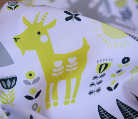 Scandi Goats // by petite_circus // cute kids baby nursery //