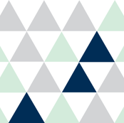 Hamptons Triangles - Mint