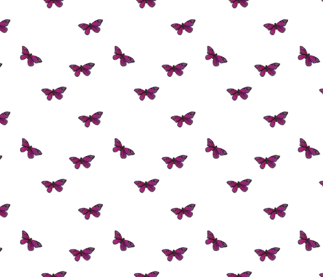 Botanical Butterly, Purple fabric by nicoleporter on Spoonflower - custom fabric