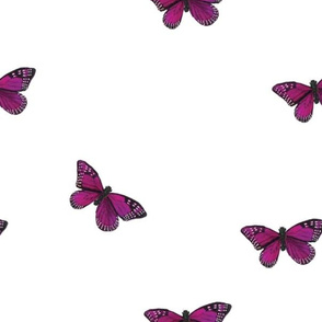 Botanical Butterly, Purple