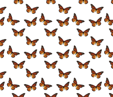 Botanical Butterfly, Monarch fabric by nicoleporter on Spoonflower - custom fabric