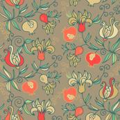 Retro pomegranate design