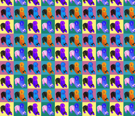 warhol style Old English Sheepdog fabric by sheepiedoodles on Spoonflower - custom fabric