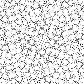 S43 floral : outline