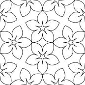 S43X floral : outline