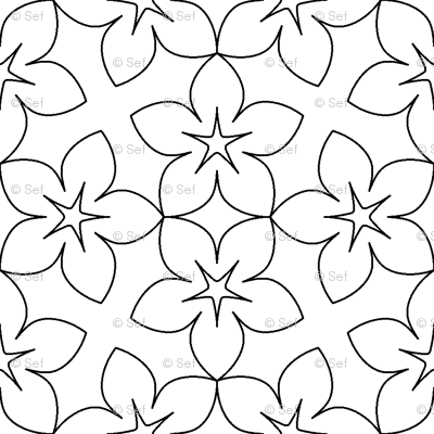 04455431 : S43X floral : outline