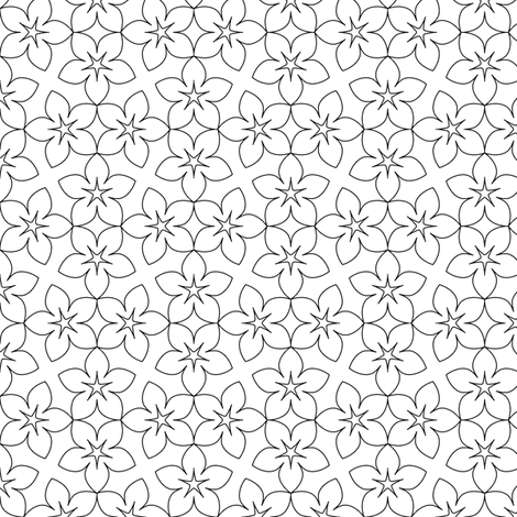 04455431 : S43X floral : outline fabric by sef on Spoonflower - custom fabric