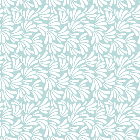 Tropic Fanned Leaves Seafoam fabric by thistleandfox on Spoonflower - custom fabric