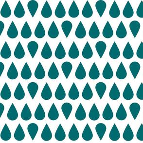 Turquoise Retro Drops