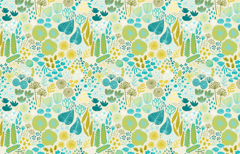 Botanical Garden by Friztin fabric by friztin on Spoonflower - custom fabric