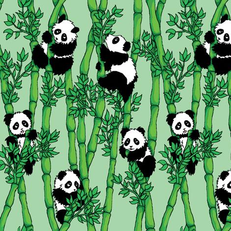 Bamboo Panda Wallpaper M Bruus Spoonflower