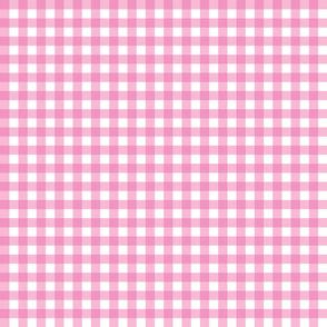 "1/2"" Gingham - Medium Pink"
