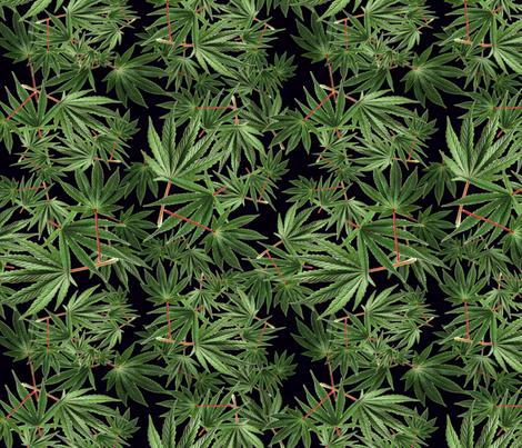 Red Stemmed Fan Leaf fabric by camomoto on Spoonflower - custom fabric