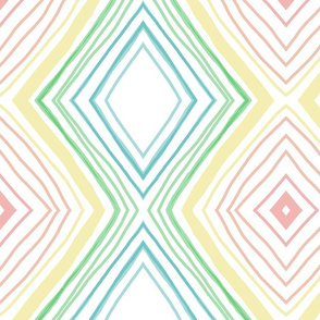 Rainbow lines with mirror style