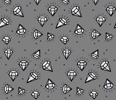 Coloured Diamonds on Grey fabric by taraput on Spoonflower - custom fabric