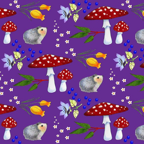 mr. hedgehog's garden/purple