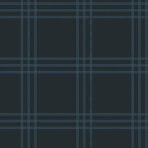 "3"" charcoal-navy checker tartan"