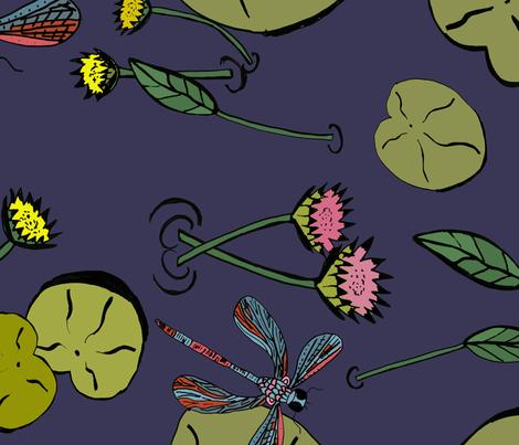 dragonfly_edited-2 fabric by ngema on Spoonflower - custom fabric