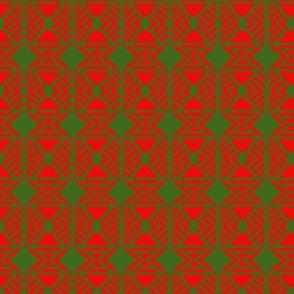 Tribal Blanket Orange Green