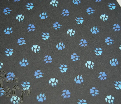 Trotting paw prints - icy