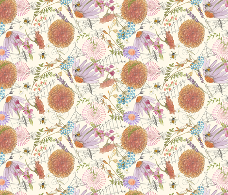 Botanical Sketchbook fabric by jennifergeldard on Spoonflower - custom fabric