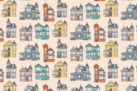 victorianhousefin fabric by monicarose on Spoonflower - custom fabric