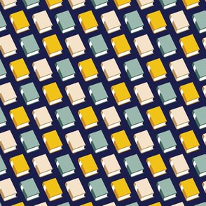 Powell* (Multi Jackie Blue)    book library literary reading geometric stripe graphic minimalist preppy