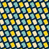 Powell (Multi Midnight) || book library literary reading geometric stripe graphic minimalist