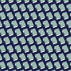 Powell* (Blue on Jackie Blue)    book library literary reading geometric stripe graphic minimalist preppy