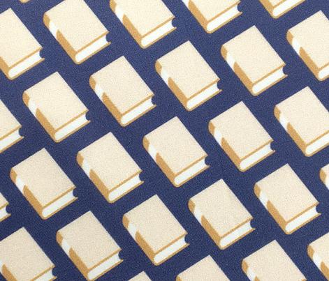 Powell* (Linen on Jackie Blue)    book library literary reading geometric stripe graphic minimalist preppy