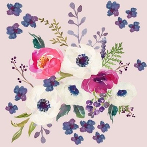 Boho Purple & White / Pink Background