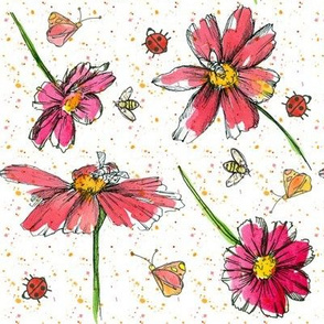 Buggy Pink Daisies