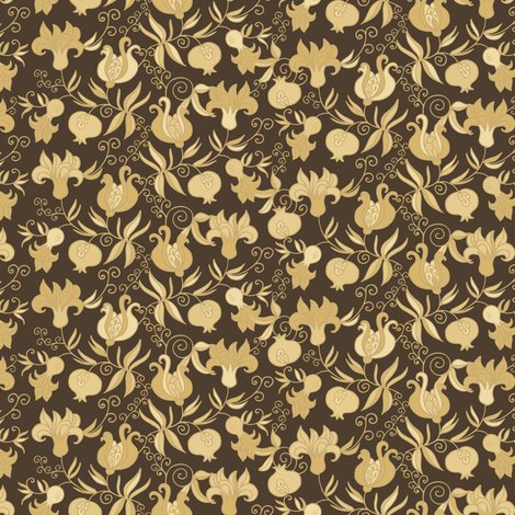 Pomegranate fabric - dariara - Spoonflower