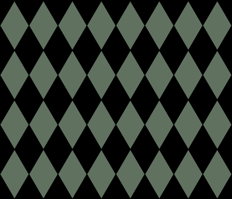 Harlequin Diamonds ~ Ondine and Black   fabric by peacoquettedesigns on Spoonflower - custom fabric