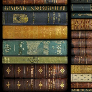 Monsieur Fancypantaloons' Instant Library ~ Two Sizes ~ Border Print