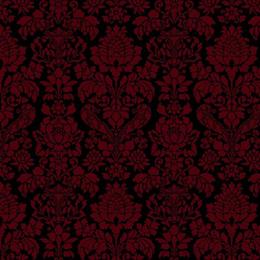 Balmoral Damask ~ Regina Linen on Black