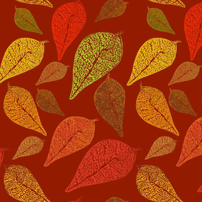 Autumn leaf red