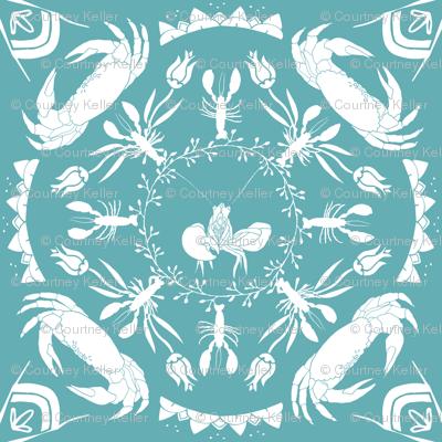 Nautical Mandala - Turquoise