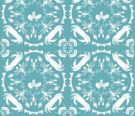 Nautical Mandala - Turquoise fabric by onelittleprintshop on Spoonflower - custom fabric