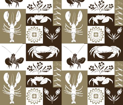 Nautical Geometric - Neutrals fabric by onelittleprintshop on Spoonflower - custom fabric