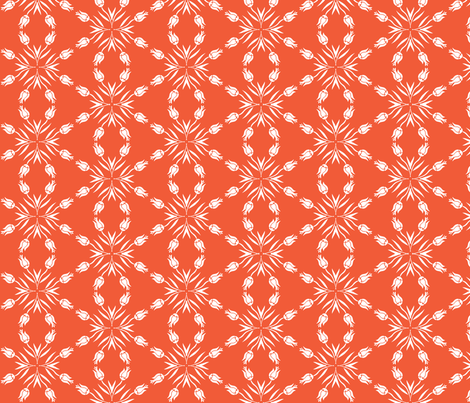 Red & White Tulip Coordinate fabric by onelittleprintshop on Spoonflower - custom fabric