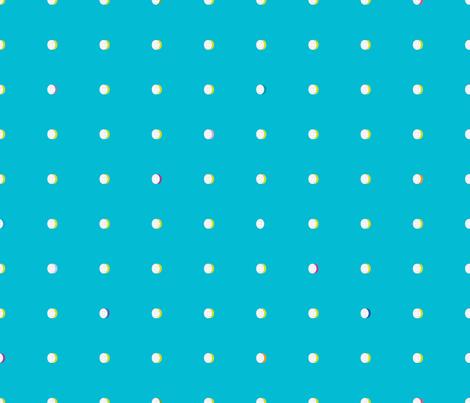 butterfly dots aqua fabric by liluna on Spoonflower - custom fabric