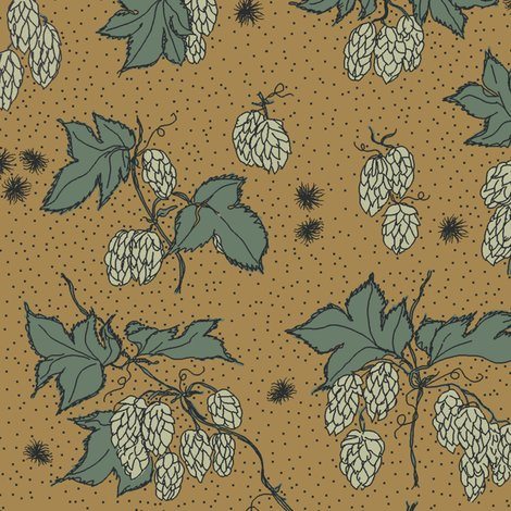 R04._allover_hops_and_spider_burrs_outline_and_dots_repeat_coloured_in_on_mustard_shop_preview