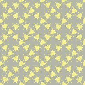 Yellow Tulip - Grey