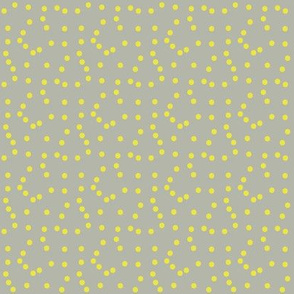 Yellow Polkadot - Grey