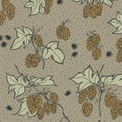 Rr07._allover_hops_and_spider_burrs_outline_and_dots_repeat_coloured_in_on_old_linen_shop_thumb