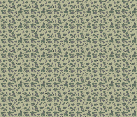 grey hops and spiky burr on a pale green bg fabric by a_bushel_of_hops on Spoonflower - custom fabric