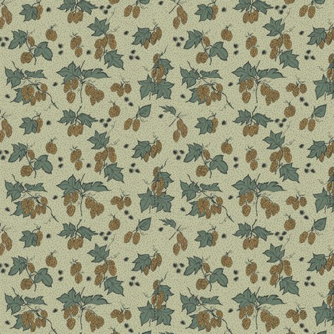 Rr09._allover_hops_and_spider_burrs_outline_and_dots_repeat_coloured_in_on_pale_green_2_shop_preview