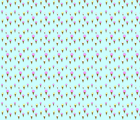 i scream for ice cream fabric by craftwithcartwright on Spoonflower - custom fabric
